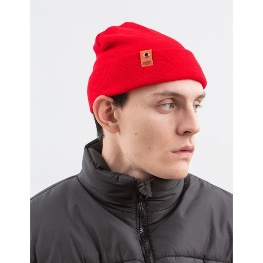 Beanie 'Small Patch' Red
