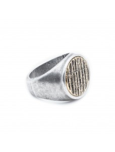 Opposite Ring Scratch Silver-Gold