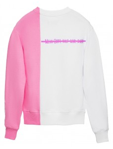 Women Sweatshirt White-Pink
