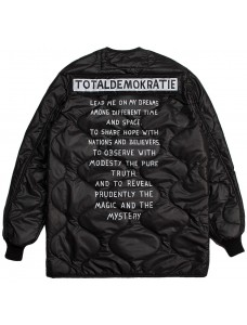 'TOTALDEMOCRATIE' Men Padded Jacket Black