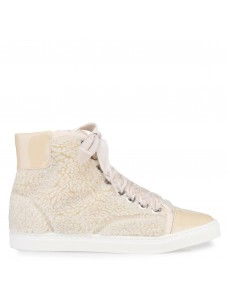 Vegane High-Top Sneaker Creme
