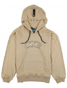 Crime X Punishment Hoodie 'Cyberbasket' Beige