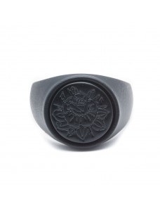 Opposite Ring Rose Tattoo Total Black