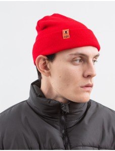 ZIQ & YONI Beanie 'Small Patch' Red
